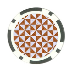 Triangle1 White Marble & Rusted Metal Poker Chip Card Guard (10 Pack)