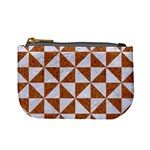 TRIANGLE1 WHITE MARBLE & RUSTED METAL Mini Coin Purses Front