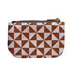 TRIANGLE1 WHITE MARBLE & RUSTED METAL Mini Coin Purses Back