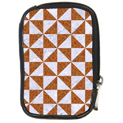 Triangle1 White Marble & Rusted Metal Compact Camera Cases