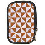 TRIANGLE1 WHITE MARBLE & RUSTED METAL Compact Camera Cases Front
