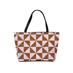 TRIANGLE1 WHITE MARBLE & RUSTED METAL Shoulder Handbags Back