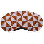 TRIANGLE1 WHITE MARBLE & RUSTED METAL Sleeping Masks Front