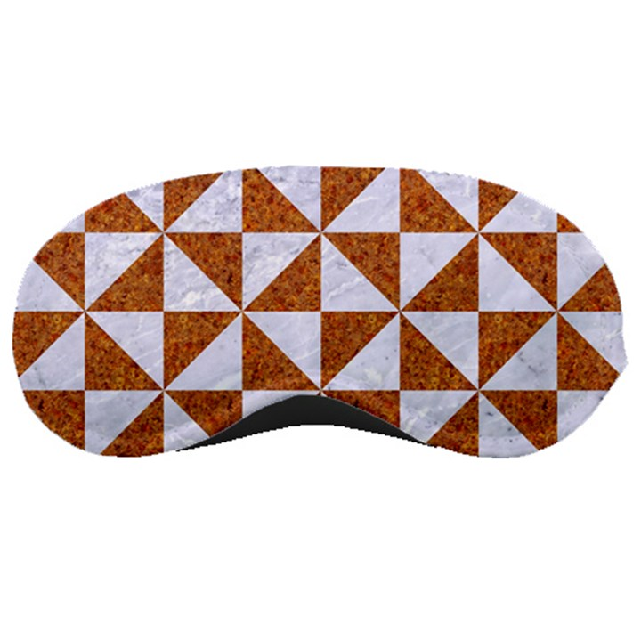 TRIANGLE1 WHITE MARBLE & RUSTED METAL Sleeping Masks