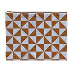 TRIANGLE1 WHITE MARBLE & RUSTED METAL Cosmetic Bag (XL) Front