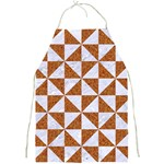 TRIANGLE1 WHITE MARBLE & RUSTED METAL Full Print Aprons Front