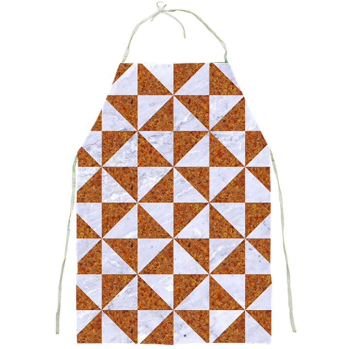 TRIANGLE1 WHITE MARBLE & RUSTED METAL Full Print Aprons