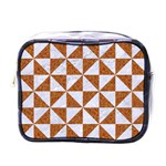 TRIANGLE1 WHITE MARBLE & RUSTED METAL Mini Toiletries Bags Front