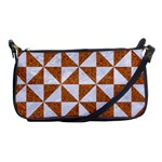 TRIANGLE1 WHITE MARBLE & RUSTED METAL Shoulder Clutch Bags Front