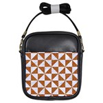 TRIANGLE1 WHITE MARBLE & RUSTED METAL Girls Sling Bags Front