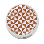 TRIANGLE1 WHITE MARBLE & RUSTED METAL 4-Port USB Hub (Two Sides)  Back