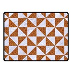 TRIANGLE1 WHITE MARBLE & RUSTED METAL Fleece Blanket (Small) 50 x40 Blanket Front