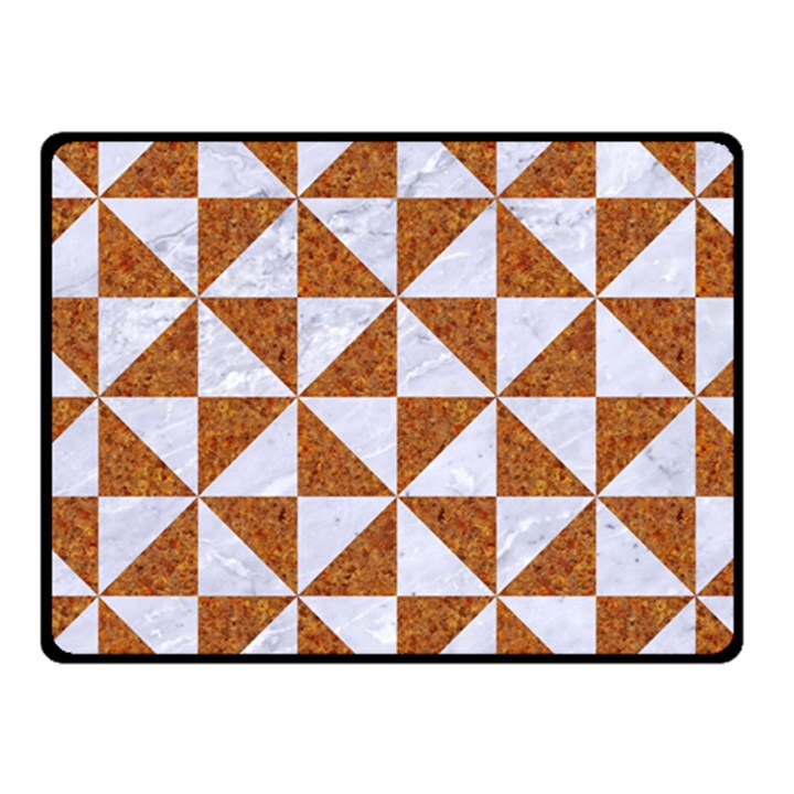 TRIANGLE1 WHITE MARBLE & RUSTED METAL Fleece Blanket (Small)