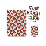 TRIANGLE1 WHITE MARBLE & RUSTED METAL Playing Cards 54 (Mini)  Front - Heart9