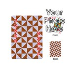 TRIANGLE1 WHITE MARBLE & RUSTED METAL Playing Cards 54 (Mini)  Front - Joker2