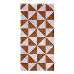 TRIANGLE1 WHITE MARBLE & RUSTED METAL Shower Curtain 36  x 72  (Stall)  33.26 x66.24 Curtain