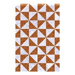 TRIANGLE1 WHITE MARBLE & RUSTED METAL Shower Curtain 48  x 72  (Small)  42.18 x64.8 Curtain
