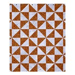 TRIANGLE1 WHITE MARBLE & RUSTED METAL Shower Curtain 60  x 72  (Medium)  54.25 x65.71 Curtain