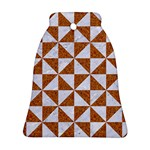 TRIANGLE1 WHITE MARBLE & RUSTED METAL Ornament (Bell) Front