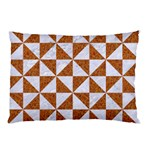 TRIANGLE1 WHITE MARBLE & RUSTED METAL Pillow Case (Two Sides) Front