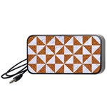 TRIANGLE1 WHITE MARBLE & RUSTED METAL Portable Speaker Front