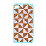 TRIANGLE1 WHITE MARBLE & RUSTED METAL Apple iPhone 4 Case (Color) Front