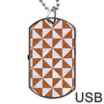 TRIANGLE1 WHITE MARBLE & RUSTED METAL Dog Tag USB Flash (Two Sides) Back