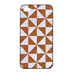 TRIANGLE1 WHITE MARBLE & RUSTED METAL Apple iPhone 4/4s Seamless Case (Black) Front