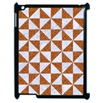 TRIANGLE1 WHITE MARBLE & RUSTED METAL Apple iPad 2 Case (Black) Front