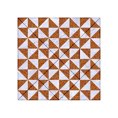 Triangle1 White Marble & Rusted Metal Acrylic Tangram Puzzle (4  X 4 )