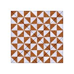 TRIANGLE1 WHITE MARBLE & RUSTED METAL Acrylic Tangram Puzzle (4  x 4 ) Front