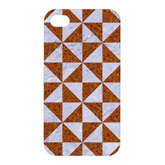 Triangle1 White Marble & Rusted Metal Apple Iphone 4/4s Premium Hardshell Case