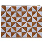 TRIANGLE1 WHITE MARBLE & RUSTED METAL Cosmetic Bag (XXXL)  Back