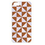 TRIANGLE1 WHITE MARBLE & RUSTED METAL Apple iPhone 5 Seamless Case (White) Front