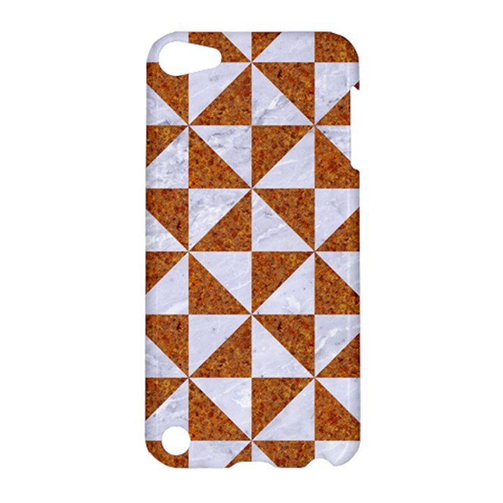 TRIANGLE1 WHITE MARBLE & RUSTED METAL Apple iPod Touch 5 Hardshell Case