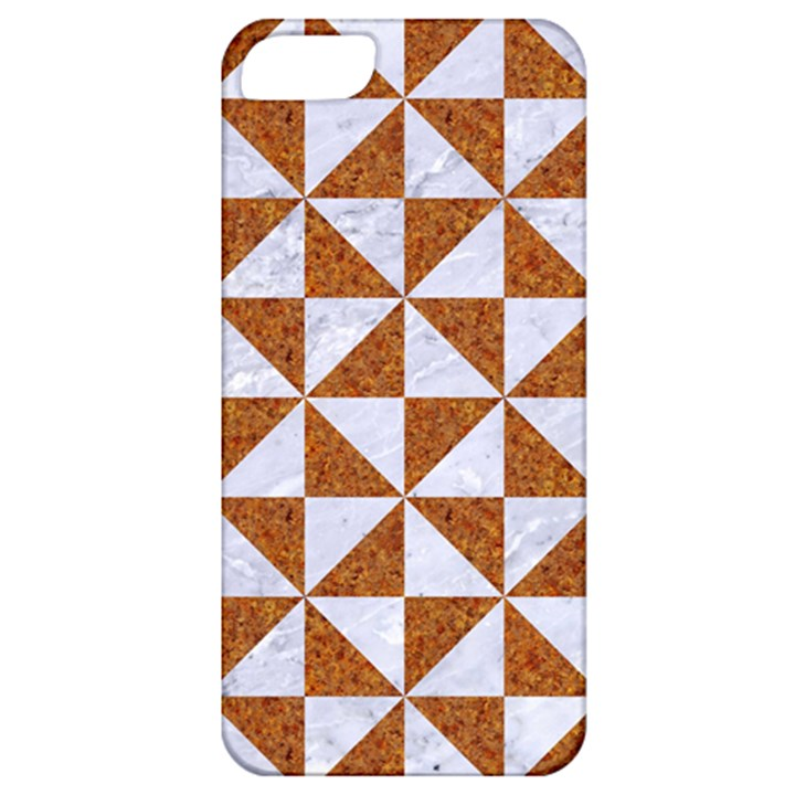 TRIANGLE1 WHITE MARBLE & RUSTED METAL Apple iPhone 5 Classic Hardshell Case