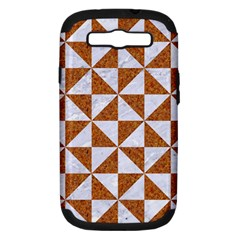Triangle1 White Marble & Rusted Metal Samsung Galaxy S Iii Hardshell Case (pc+silicone)