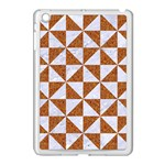 TRIANGLE1 WHITE MARBLE & RUSTED METAL Apple iPad Mini Case (White) Front