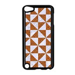 TRIANGLE1 WHITE MARBLE & RUSTED METAL Apple iPod Touch 5 Case (Black) Front