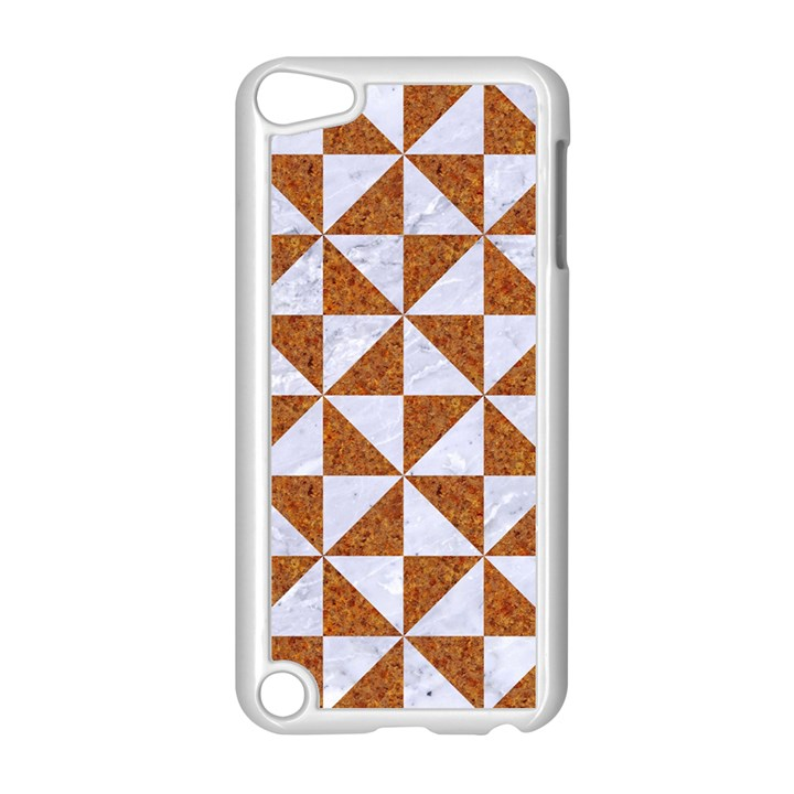 TRIANGLE1 WHITE MARBLE & RUSTED METAL Apple iPod Touch 5 Case (White)