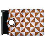 TRIANGLE1 WHITE MARBLE & RUSTED METAL Apple iPad 2 Flip 360 Case Front