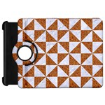 TRIANGLE1 WHITE MARBLE & RUSTED METAL Kindle Fire HD 7  Front