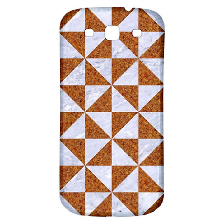 TRIANGLE1 WHITE MARBLE & RUSTED METAL Samsung Galaxy S3 S III Classic Hardshell Back Case