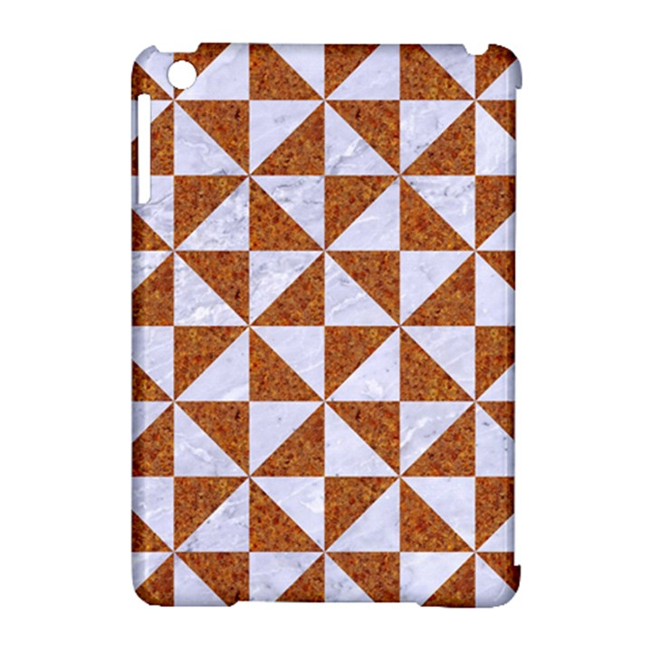 TRIANGLE1 WHITE MARBLE & RUSTED METAL Apple iPad Mini Hardshell Case (Compatible with Smart Cover)