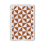 TRIANGLE1 WHITE MARBLE & RUSTED METAL iPad Mini 2 Enamel Coated Cases Front