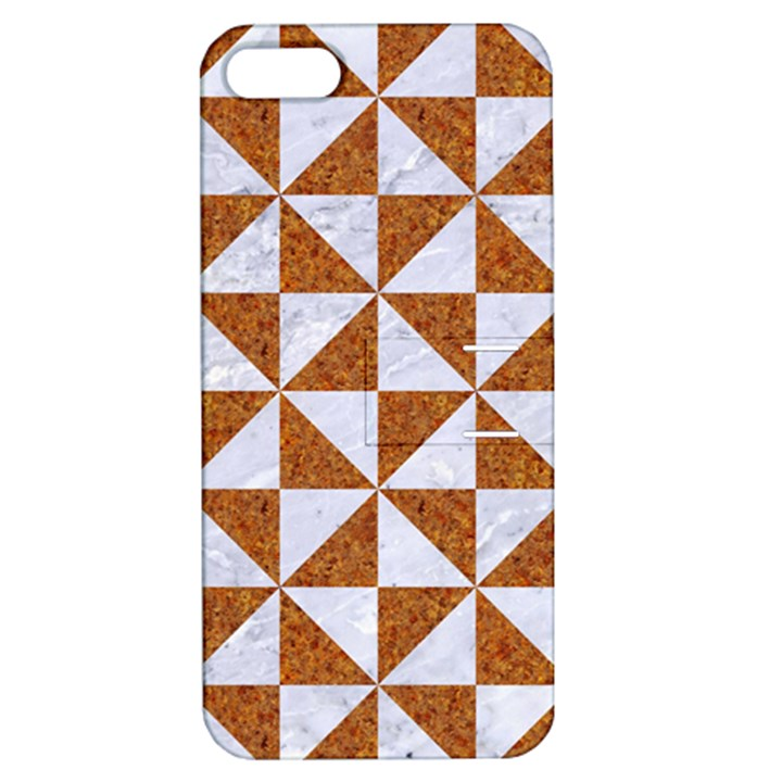 TRIANGLE1 WHITE MARBLE & RUSTED METAL Apple iPhone 5 Hardshell Case with Stand