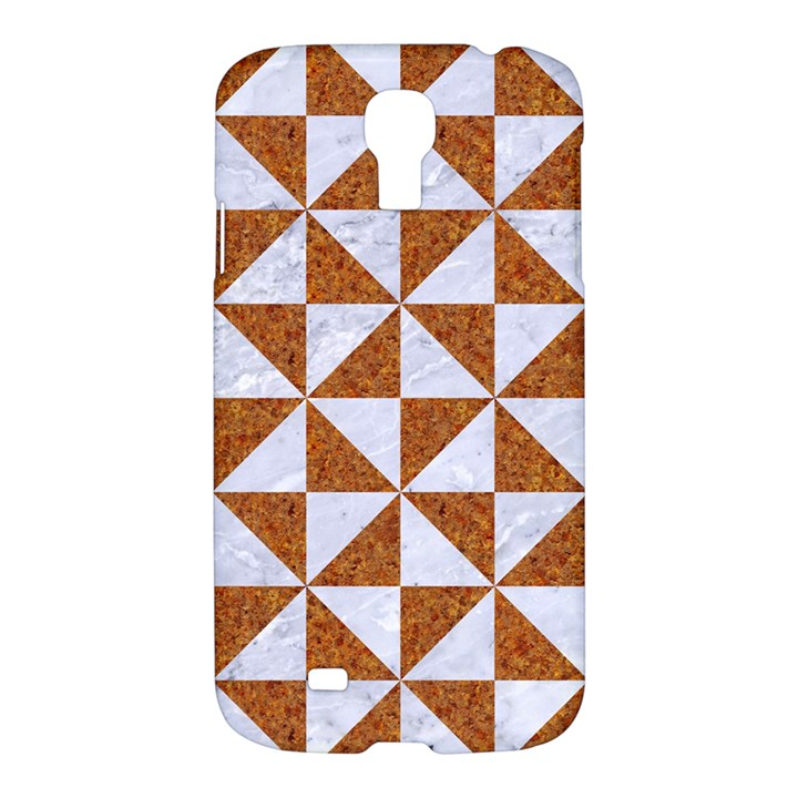TRIANGLE1 WHITE MARBLE & RUSTED METAL Samsung Galaxy S4 I9500/I9505 Hardshell Case