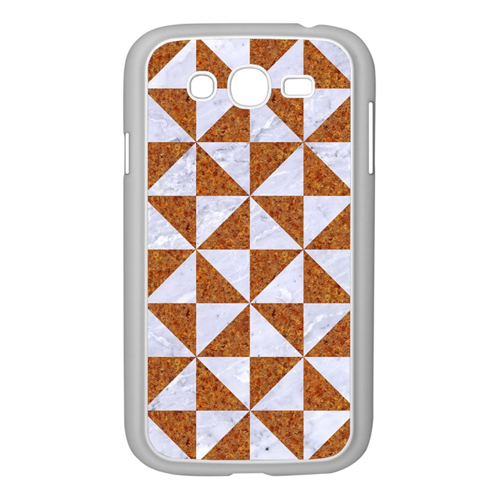 TRIANGLE1 WHITE MARBLE & RUSTED METAL Samsung Galaxy Grand DUOS I9082 Case (White)