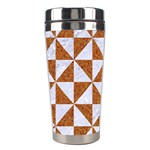 TRIANGLE1 WHITE MARBLE & RUSTED METAL Stainless Steel Travel Tumblers Center