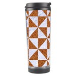 TRIANGLE1 WHITE MARBLE & RUSTED METAL Travel Tumbler Center